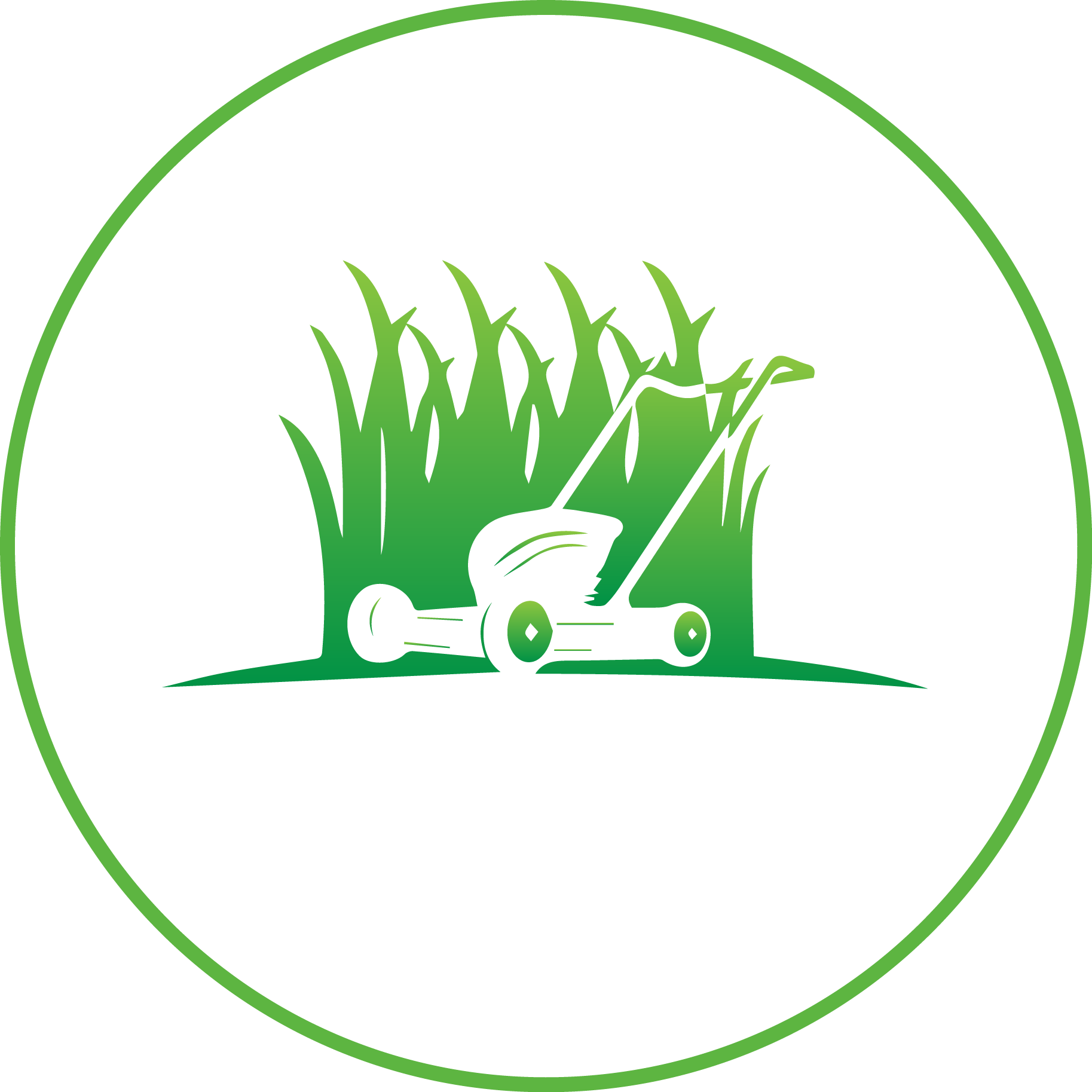 This is the Carlson Lawn Care Logo. Our services include mowing, trimming, lawn cleanup, sprinkler maintenance, and more.