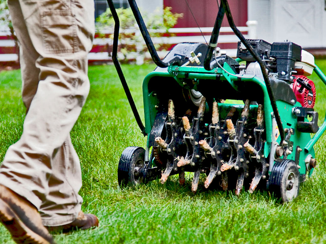 We recommend at least one lawn aeration every year. This is a highly overlooked service that significantly improves the overall quality of the lawn. Aeration helps break up the sediment that was compacted over the year or even years. It allows the lawn to absorb important minerals and water more efficiently. This service is offered year round.